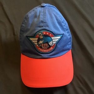 Captain America Marvel Freedom Blue Strapback Cap